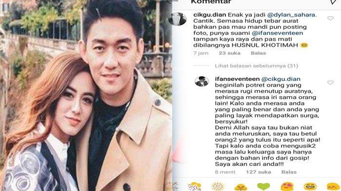 Hina Almarhumah Dylan Sahara di Instagram, Ifan Seventeen Marah Cari Pemilik Akun Ini