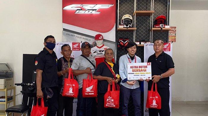 Astra Motor Bersama Ormas Laskar Pemuda Melayu Kolaborasi Berbagi Sembako