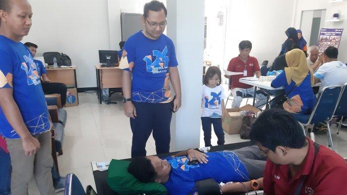 Rayakan HUT ke-124,BRI Mempawah Gelar Donor Darah