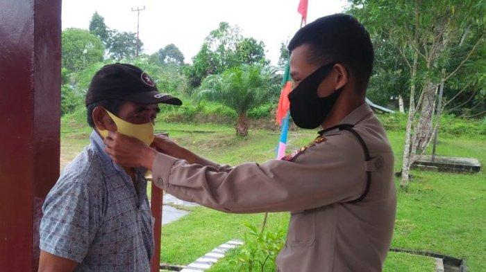 Polsek Monterado Sosialisasikan Adaptasi Kebiasaan Baru, Terapkan Protokol Kesehatan di Mapolsek