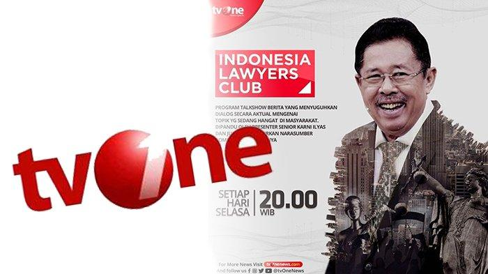 JUDUL ILC Malam Ini di Tv One Live, Cek Link Live Streaming Tv One Berikut | Ada Fadli Zon Hingga RK