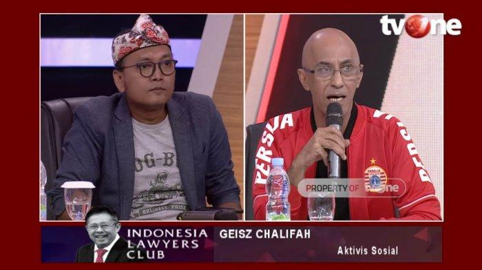 Di ILC Geisz Chalifah Berani Tantang PSI Partai Solidaritas Indonesia! Ia Bukan Orang Sembarangan