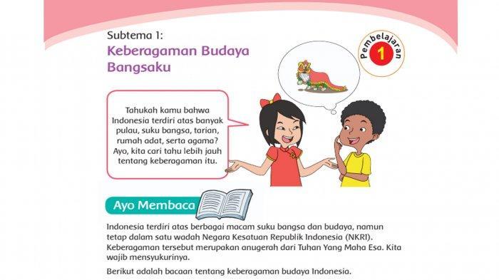 Kunci Jawaban Tema 1 Kelas 4 Halaman 3 4 5 6 7 8 9 10 11 12  Subtema 1: Keberagaman Budaya Bangsaku