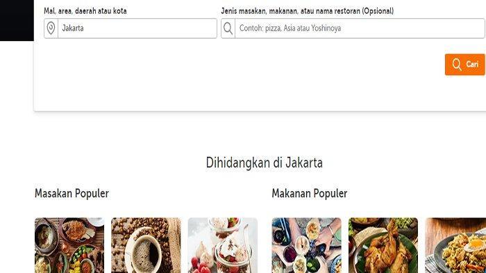 Ilustrasi daftar menu restoran Traveloka Eats.