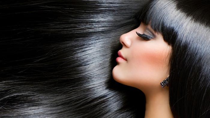 Ilustrasi rambut panjang.