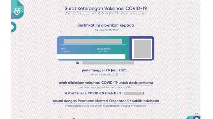 Cara Cetak Kartu Vaksin Seperti KTP setelah Download Sertifikat Vaksin Covid di pedulilindungi.id