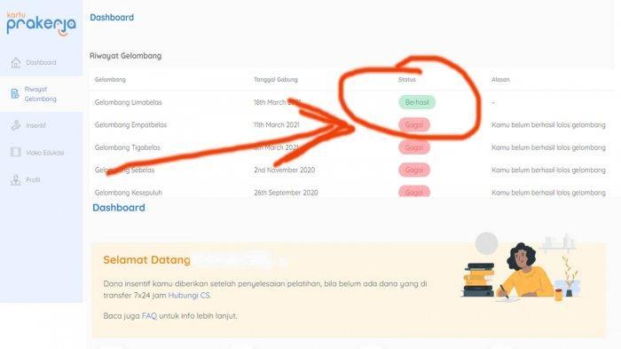 Tanda Lolos Prakerja Gelombang 16 Pengumuman Bisa Dilihat di https://dashboard.prakerja.go.id/