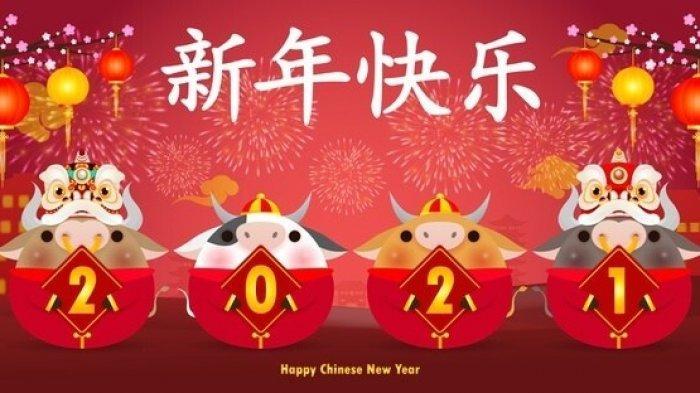 Selamat Hari Raya Imlek 2021  Kata Ucapan Selamat Tahun Baru China Imlek 2021 Gong Xi Fa Cai ...
