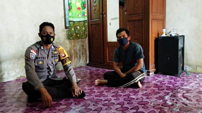 Silaturahmi dengan Warga Binaan, Aipda Meydianto Sampaikan Imbauan Protokol Kesehatan