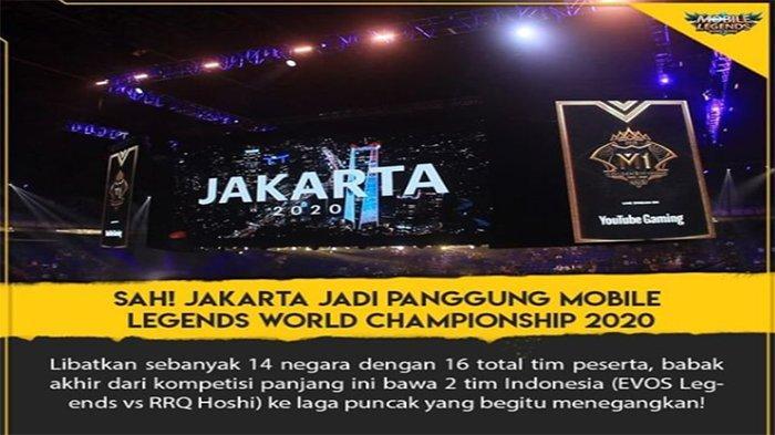 INDONESIA Tuan Rumah M2 Piala Dunia Mobile Legends 2020 ...