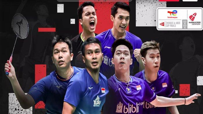 Jadwal Jam Tayang Thomas dan Uber Cup 2021 Live TVRI Hari Ini Selasa 13 Oktober Indonesia vs Taiwan