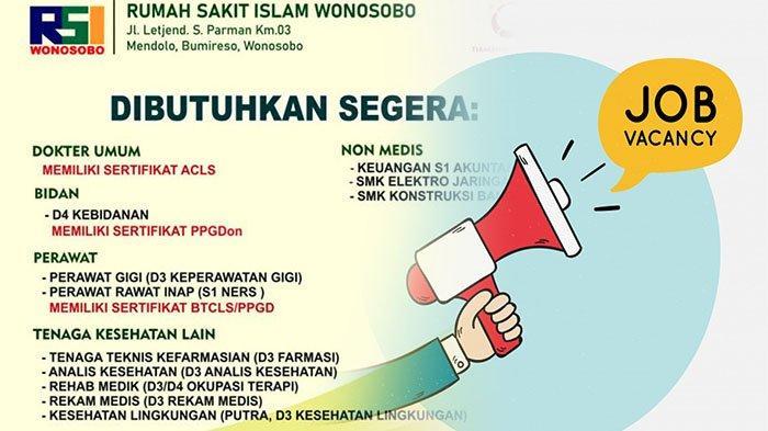 Info Lowongan Kerja 2021 Terbaru Peluang Karir Di Rumah Sakit Islam Wonosobo Cek Kualifikasinya Tribun Pontianak