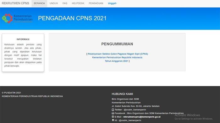Tag: SYARAT daftar CPNS Kementerian Perindustrian 2021 ...