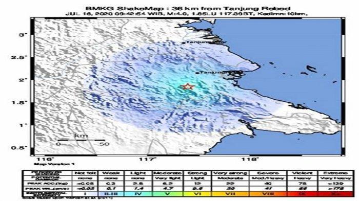 Gempa Bumi Guncang Berau Kalimantan Timur, Ini Hasil Analisis BMKG