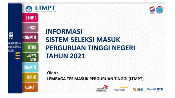 https://www.ltmpt.ac.id/ Link Pengumuman Kuota SNMPTN 2021 Website LTMPT Senin 28 Desember 2020
