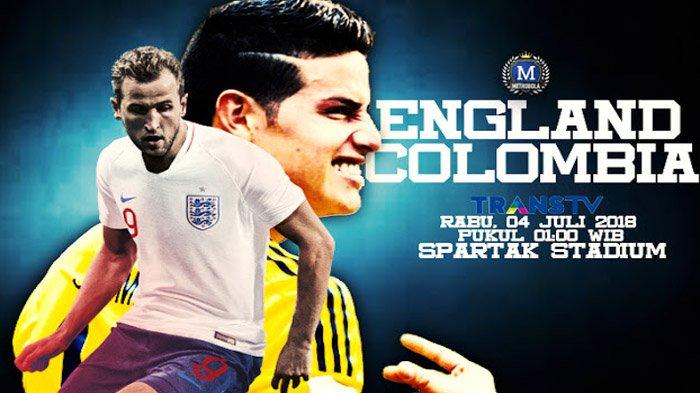 LIVE Inggris Vs Kolombia di TransTV Pukul 01.00 WIB! Tonton Live Streaming dengan Cara Ini