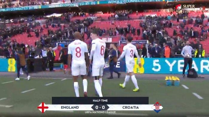 LIVE STREAMING Babak II Inggris Vs Kroasia, Babak Pertama Skor Sama Kuat (0-0 HT)