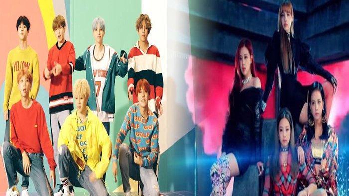 Inilah 10 Grup K-Pop Paling Banyak Dilihat di YouTube, BTS & BLACKPINK Tak Tersaingi