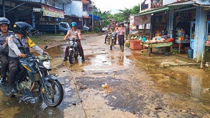 Banjir di Rawak Hulu dan Selintah Mulai Surut, Ini Imbauan Kapolsek pada Warga