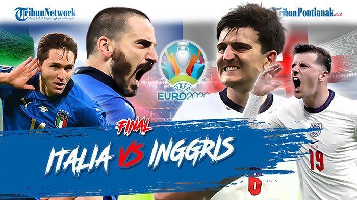 LIVE SCORE Italia vs Inggris Final Euro 2021 Sekarang Update Skor Sementara Inggris vs Italia