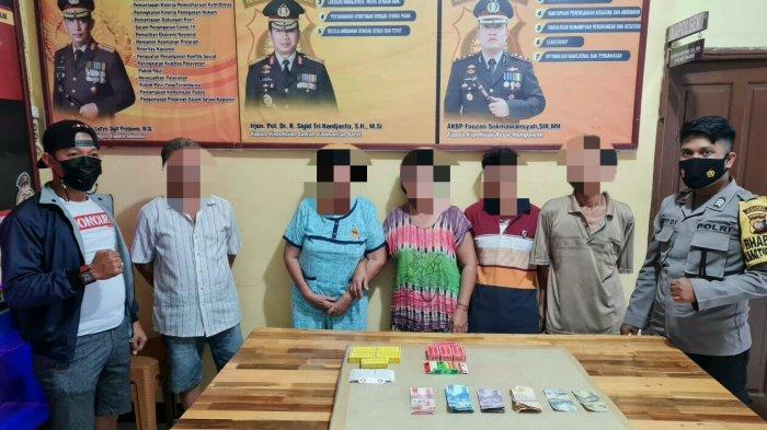 Asik Berjudi, Empat Warga Jungkat Diamankan Unit Reskrim Polsek Siantan