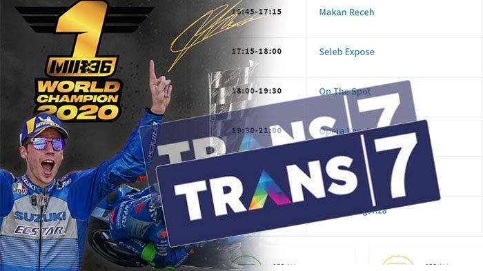 JADWAL Acara Trans 7 Hari Ini 9 Januari 2021, Juara Dunia MotoGp 2020 Kapan Beraksi di MotoGP 2021 ?