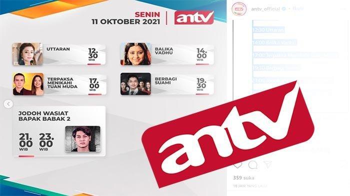 JADWAL ANTV Hari Ini, Live ANTV Sekarang Balika Vadhu Hari Ini hingga Terpaksa Menikahi Tuan Muda