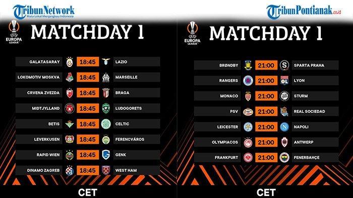 Jadwal Bola Malam Ini Liga Eropa 2021 Lengkap Jam Tayang Live SCTV dan Vidio