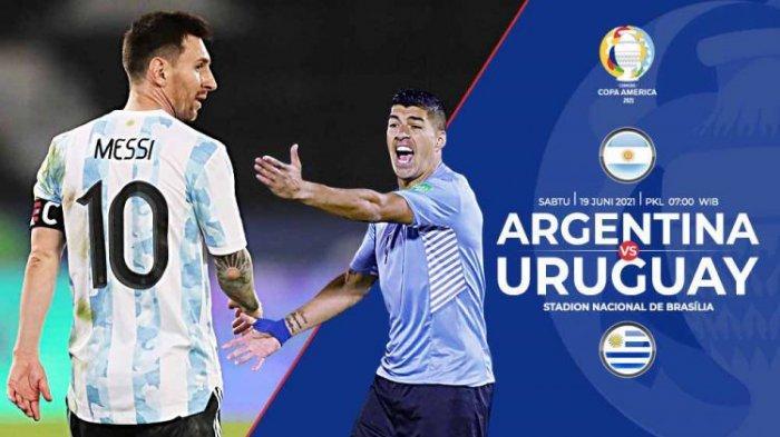 Prediksi Argentina Vs Uruguay Copa America 2021 Live Indosiar Pagi Ini, Adu Tajam Messi Vs Suarez