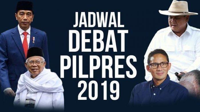 Jadwal Debat Pilpres 2019 dan Link Live Streaming TVRI, Kompas TV dan RTV