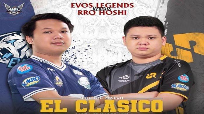 JADWAL El Clasico RRQ Vs EVOS MPL ID S7 Pekan Ketiga Mobile Legends - Hasil dan Klasemen MPL Terbaru