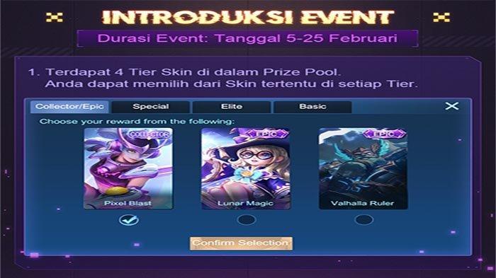 JADWAL Event Mobile Legends Februari 2021 Bertabur Hadiah Item dan Skin Epic Gratis Grand Collection