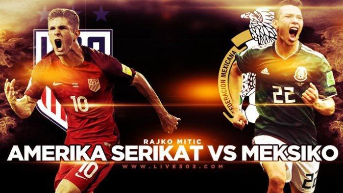Jadwal Final Piala Emas CONCACAF 2021 Amerika Serikat vs Meksiko Live Mola TV