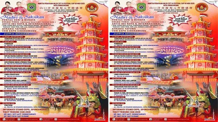 JADWAL Cap Go Meh Singkawang dan Jadwal Imlek 2020, Lomba Atraksi Naga hingga Puncak Parade Tatung