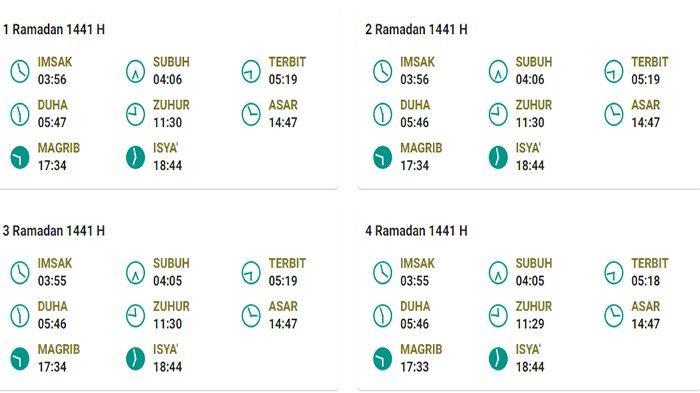 Jadwal Imsakiyah Puasa Ramadhan 2020 untuk Kabupaten Kapuas Hulu Kalbar dan Sekitarnya