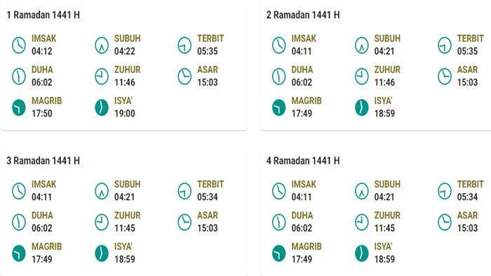 Jadwal Imsakiyah Puasa Ramadhan 2020 untuk Kota Singkawang Kalbar dan Sekitarnya