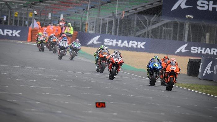 Ilustrasi suasana balapan MotoGP.