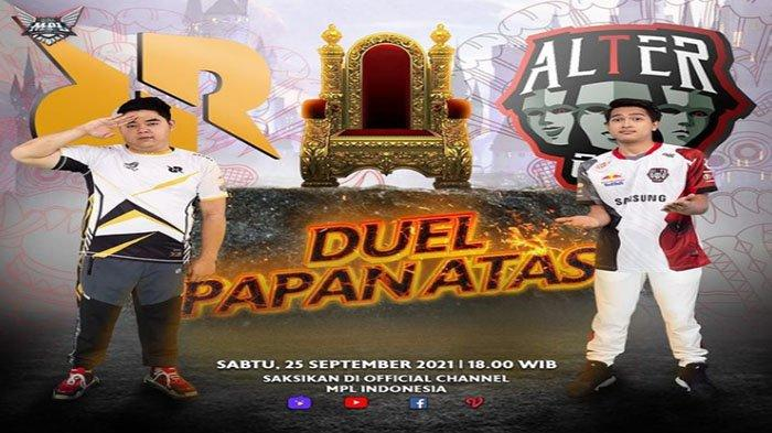 Jadwal MPL ID Season 8 Pekan 7 Live Jumat sampai Minggu 26 September 2021 - Duel Pemuncak Klasemen