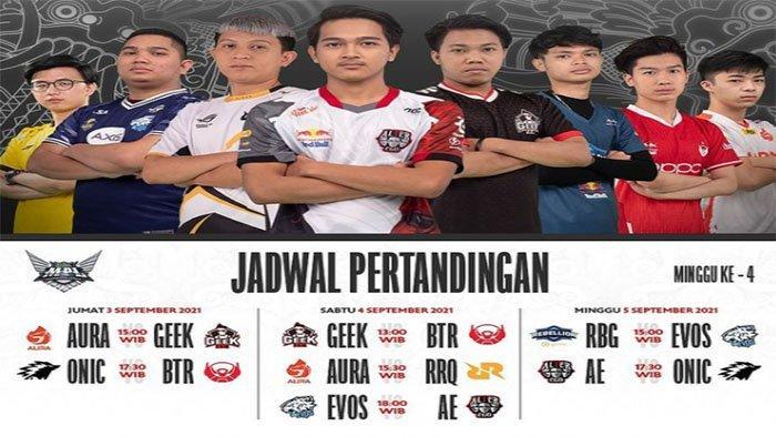 Jadwal MPL ID Season 8 Week 4 Day 1-3 - Comeback Luminaire dan Pembuktian EVOS Legends di Klasemen