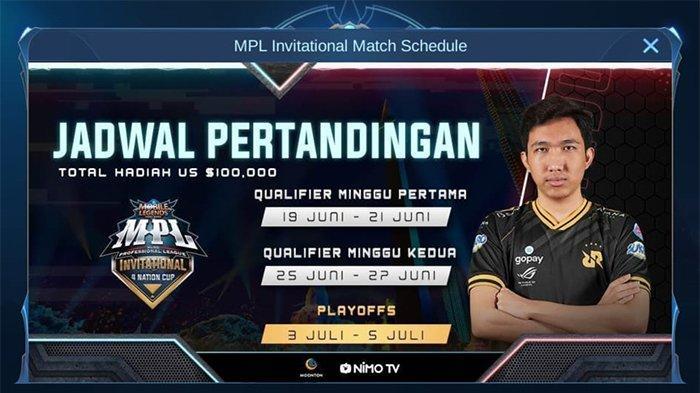 JADWAL MPL Invitational 4 Nation Cup 2020 dan Pembagian Grup Zona Indonesia, Malaysia dan Singapura