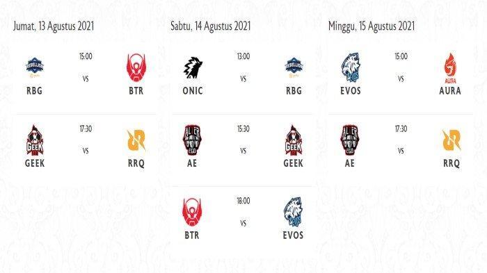 Jadwal Pembukaan MPL ID Season 8 Pekan Ini Lengkap Jadwal Pertandingan Pekan ke-1 Live