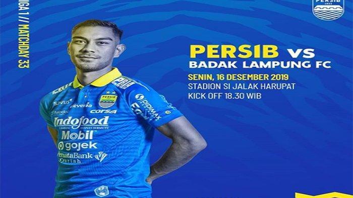 Jadwal Pertandingan Persib Bandung Vs Badak Lampung di Stadion Si Jalak Harupat Live Indosiar Liga 1