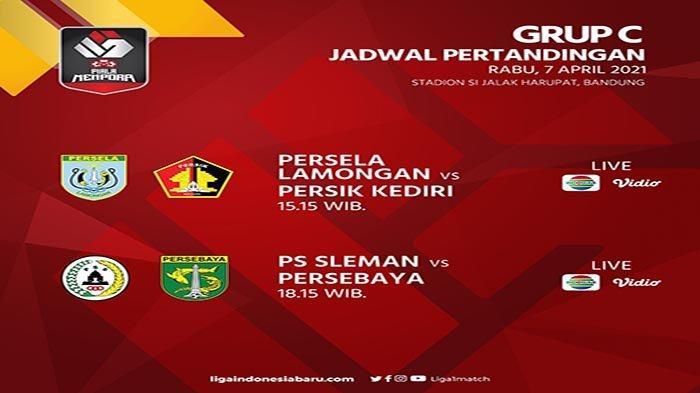 JADWAL Piala Menpora Hari Ini Rabu 7 April 2021 - Perebutan Tiket Terakhir 8 Besar Menpora Cup 2021