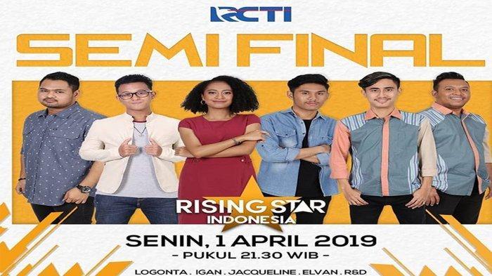 Streaming Rising Star Indonesia, Raih Vote 69 Persen, Nasib R&D Ditentukan Tiga Kontestan Tersisa