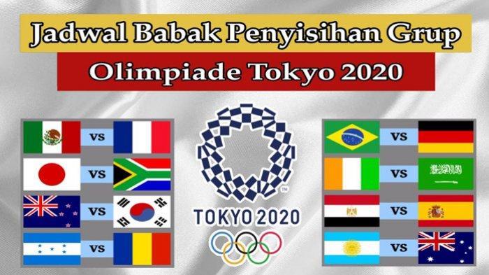 Jadwal Sepak Bola Putra Olimpiade Tokyo Hari Ini Kamis 22 Juli 2021 Live TVRI dan vidio.com