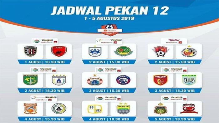 Jadwal Terbaru Liga 1 2019 Pekan 12: Sajikan 4 Laga Super Big Match, Mampukah Persija Bangkit?