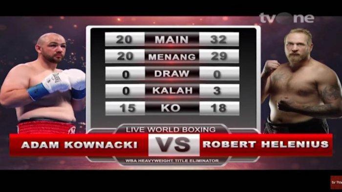 Jadwal Tinju Dunia Adam Kownacki vs Robert Helenius, Siaran Langsung TVOne Minggu 8 Maret 2020