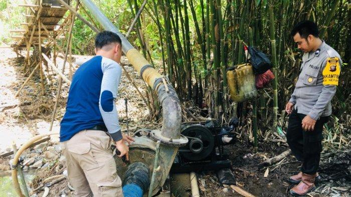 Polsek Entikong Gerebek Lokasi PETI di Kecamatan Entikong