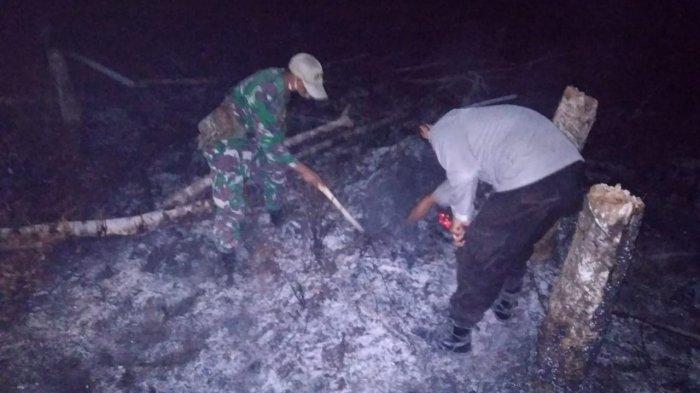 Kapolsek Jangkang Cek Lokasi Titik Api Karhutla, Berikut Imbauannya kepada Masyarakat