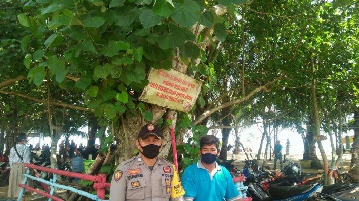Bhabinkamtibmas Sampaikan Imbauan Tentang Pencegahan Covid dan Karhutla di Desa Binaan